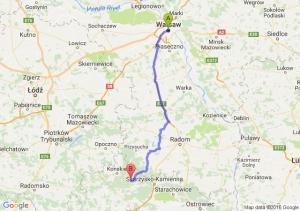 Warszawa (mazowieckie) - Stąporków (świętokrzyskie)