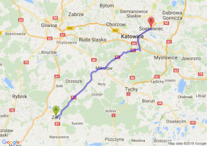 Trasa Żory - Sosnowiec