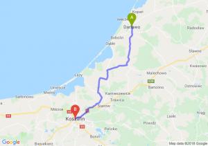 Trasa Darłowo - Koszalin