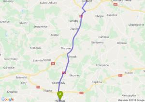 Trasa Wieluń - Sieradz