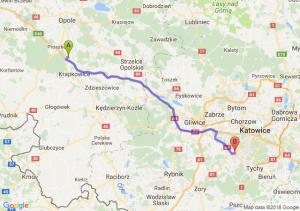 Trasa Dąbrówka Górna - Mikołów