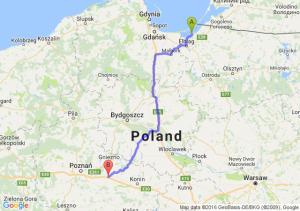 Tolkmicko (warmińsko-mazurskie) - Września (wielkopolskie)