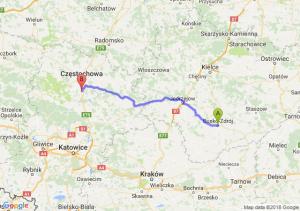 Trasa Busko-Zdrój - Poczesna