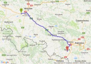 Trasa Kąty Wrocławskie - Rybnik
