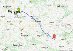Trasa Lipno - Lublin