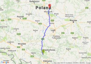 Trasa Lubliniec - Lipno
