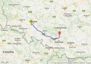 Trasa Biskupice Podgórne - Pyrzowice