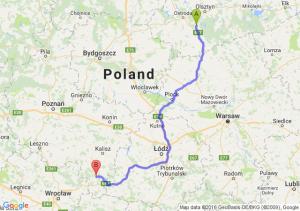 Olsztynek (warmińsko-mazurskie) - Ostrzeszów (wielkopolskie)