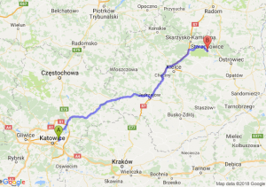 Trasa Sosnowiec - Starachowice