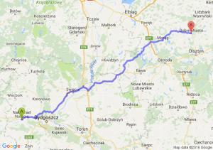 Nakło Nad Notecią (kujawsko-pomorskie) - Dobre Miasto (warmińsko-mazurskie)