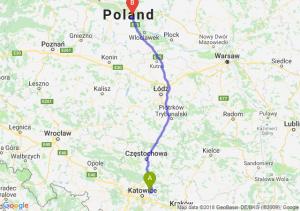 Trasa Dąbrowa Górnicza - Ciechocinek