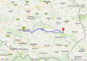 Trasa Częstochowa - Modliborzyce