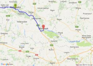 Police (zachodniopomorskie) - Bydgoszcz - Toruń - Włocławek (kujawsko-pomorskie)