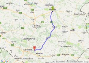 Trasa Warszawa - Olkusz