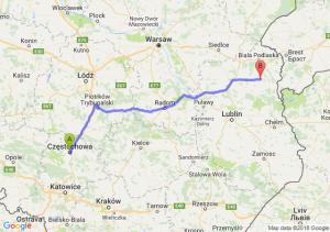 Trasa Częstochowa - Wisznice