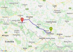 Trasa Sosnowiec - Świebodzice