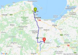 Trasa Gdynia - Kwidzyn