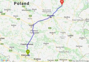 Trasa Dąbrowa Górnicza - Ostrów Mazowiecka