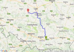 Trasa Bochnia - Sieradz