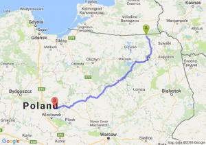 Gołdap (warmińsko-mazurskie) - Lipno (kujawsko-pomorskie)