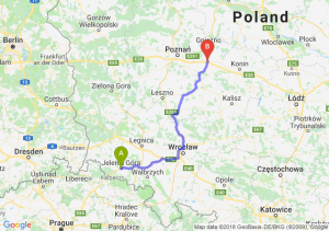 Trasa Jelenia Góra - Września