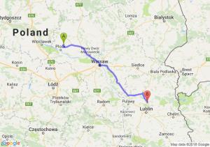 Trasa Bielsk - Lubartów