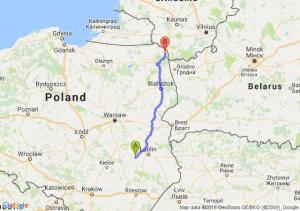 Opole Lubelskie (lubelskie) - Sejny (podlaskie)