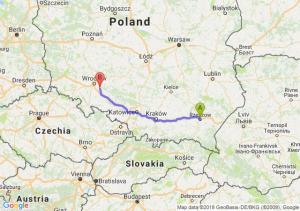 Trasa Rzeszów - Oława