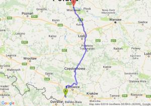 Trasa Żory - Włocławek