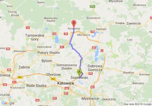 Trasa Sosnowiec - Pyrzowice