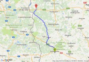 Trasa Bolesławiec - Rzepin