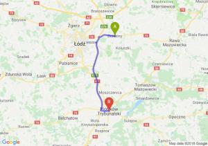 Trasa Brzeziny - Piotrków Trybunalski