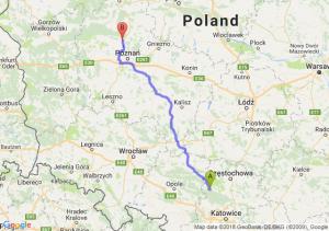 Trasa Lubliniec - Oborniki