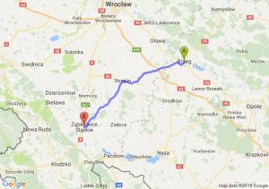 Trasa Brzeg - Ząbkowice Śląskie