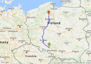 Trasa Dąbrówka Górna - Tuchola