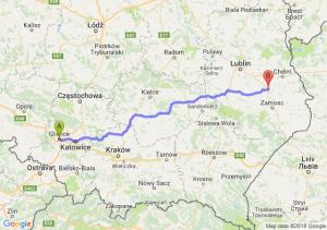 Trasa Gliwice - Krasnystaw
