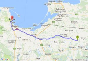 Reszel (warmińsko-mazurskie) - Gdynia (pomorskie)