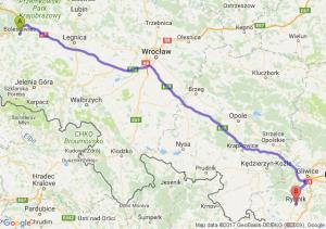 Trasa Bolesławiec - Rybnik