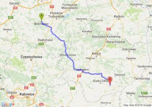 Trasa Bełchatów - Stopnica