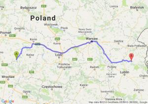 Krotoszyn (wielkopolskie) - Parczew (lubelskie)