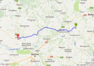 Szepietowo (podlaskie) - Płońsk (mazowieckie)