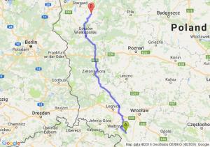 Pieszyce (dolnośląskie) - Choszczno (zachodniopomorskie)