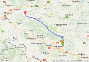 Trasa Dąbrowa Górnicza - Namysłów