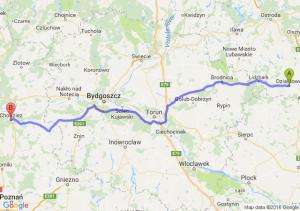 Działdowo (warmińsko-mazurskie) - Chodzież (wielkopolskie)