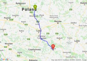 Trasa Lipno - Kielce
