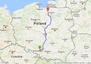 Trasa Gliwice - Morąg