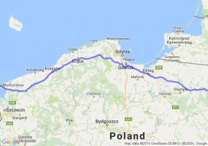 Mikołajki (warmińsko-mazurskie) - Świnoujście (zachodniopomorskie)