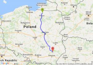 Lidzbark Warmiński (warmińsko-mazurskie) - Nisko (podkarpackie)