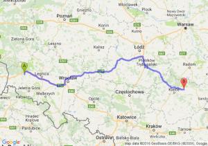 Bolesławiec (dolnośląskie) - Bodzentyn (świętokrzyskie)