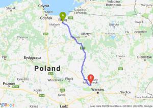 Trasa Elbląg - Nowy Dwór Mazowiecki